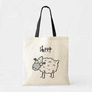 Funky Bauernhof-Schaf-Budget-Taschen-Tasche Budget Stoffbeutel