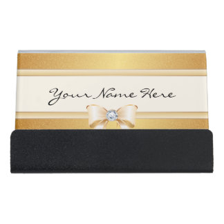Funky beunruhigte Goldsteigung u. hübscher Bling Schreibtisch-Visitenkartenhalter