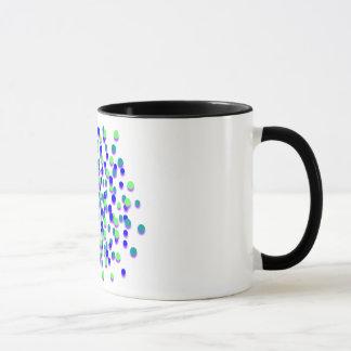 Funky blaues Grün-Feuerwerk - 11 Unze-Wecker-Tasse Tasse
