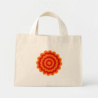 Funky Blume in Orange und in Rotem Einkaufstaschen