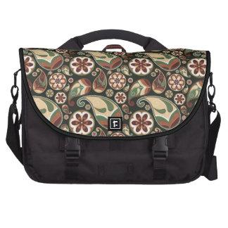 Funky Blume u. Paisley-Musterschultasche Laptoptaschen