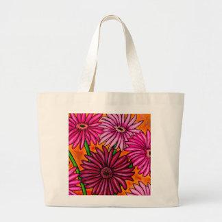 Funky Blumengerbera-Gänseblümchen-Taschen-Tasche Jumbo Stoffbeutel