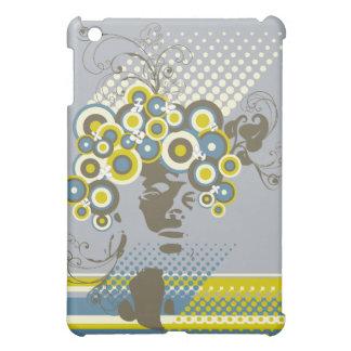 Funky Blüten-Haar-BlumenMod kreist Retro iPad Mini Hülle