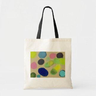 Funky bunte Formen Taschen-Tasche Budget Stoffbeutel