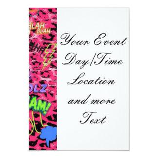 funky Comic ganz vorbei, rosa 8,9 X 12,7 Cm Einladungskarte
