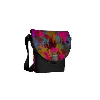 Funky coole Farben-Spritzer-Bote-Tasche Kurier Taschen