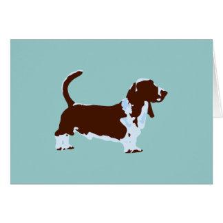 Funky Dachshund-Jagdhund-Pop-Kunst-Hund Karte