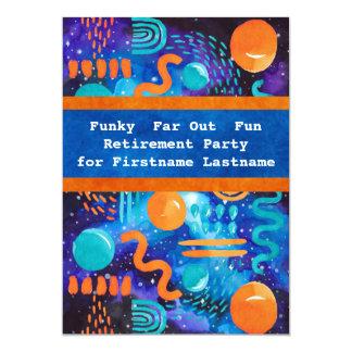 Funky, Far-Out, Spaß-Ruhestands-Party 12,7 X 17,8 Cm Einladungskarte