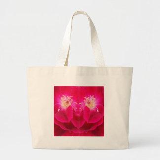 funky Farbe der roten Blume Jumbo Stoffbeutel