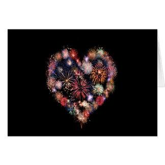 Funky Feuerwerk-Liebe Grußkarte