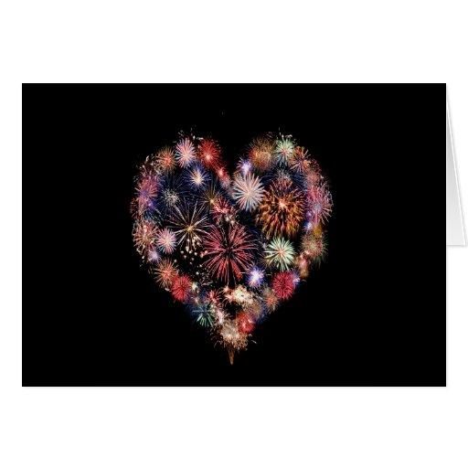 Funky Feuerwerk-Liebe Grußkarten