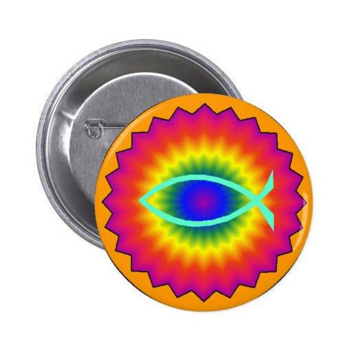 Funky Fisch-Augen-christlicher Knopf Buttons