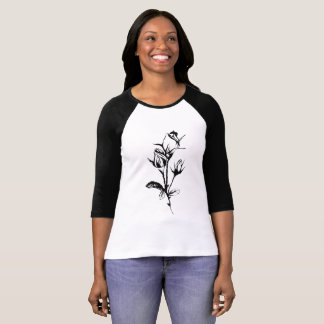 Funky flüchtige Rosen T-Shirt