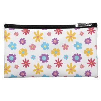 Funky Frühlings-Blumen-Muster Bagettes Tasche