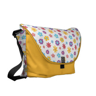 Funky Frühlings-Blumen-Muster-Bote-Tasche Kurier Taschen