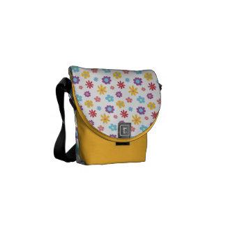 Funky Frühlings-Blumen-Muster Kurier Taschen