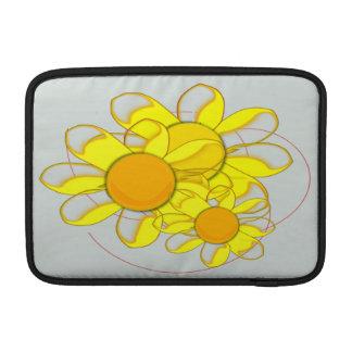 Funky gelbe Blumen MacBook Air Sleeve