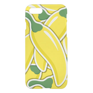 Funky gelbe Paprika-Paprikaschoten iPhone 7 Hülle