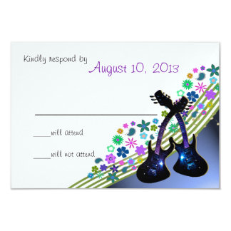 Funky Gitarren-Musik UAWG 8,9 X 12,7 Cm Einladungskarte