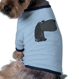 Funky grauer Welpen-HundeUVCartoon Ringer Hunde-Shirt