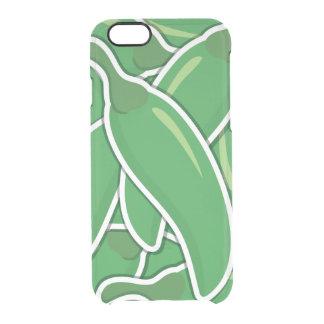 Funky grüne Paprika-Paprikaschoten Durchsichtige iPhone 6/6S Hülle