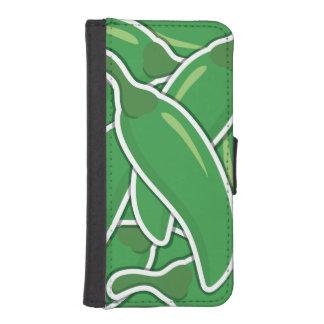 Funky grüne Paprika-Paprikaschoten I Phone 5 Portmonees