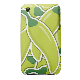 Funky grüne Paprika-Paprikaschoten iPhone 3 Case-Mate Hülle