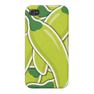 Funky grüne Paprika-Paprikaschoten iPhone 4/4S Hüllen