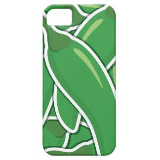 Funky grüne Paprika-Paprikaschoten iPhone 5 Etui