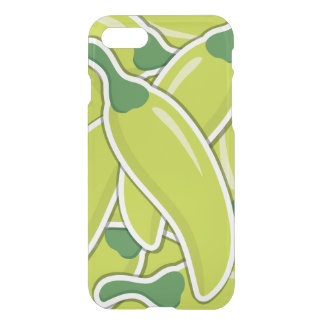 Funky grüne Paprika-Paprikaschoten iPhone 7 Hülle