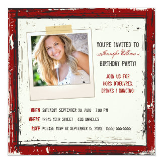 Funky Grunge-Geburtstags-Party Einladung