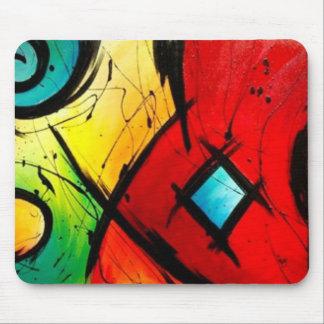 Funky helle abstrakte Kunst-Malerei Mousepad