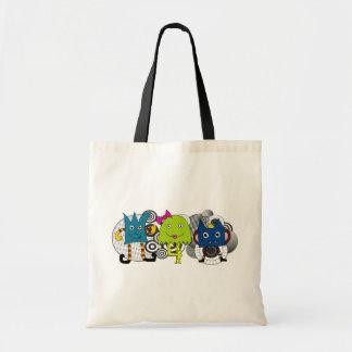 Funky kleine Monster-Taschen-Tasche Budget Stoffbeutel