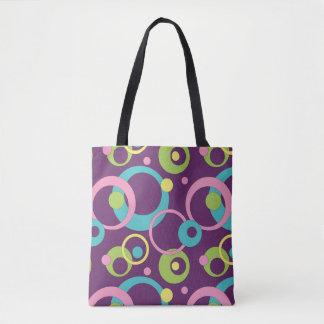 Funky lila Kreise ganz vorbei - drucken Sie Tasche