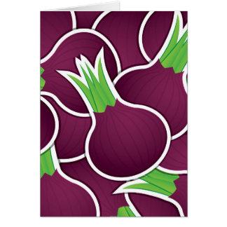 Funky lila Zwiebeln Karte