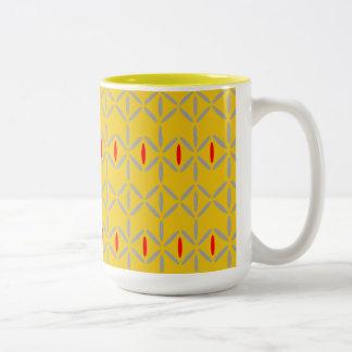 funky mutiges auf Ton-Tasse des Senfes zwei Zweifarbige Tasse