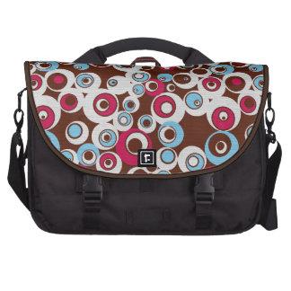Funky niedliche bunte Retro Kreis-Laptop-Tasche Notebook Taschen
