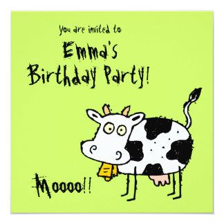 Funky Party Einladung Moooo der