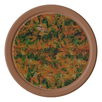 Funky Retro Art-abstrakte Mandarine-Orange Pokerchips