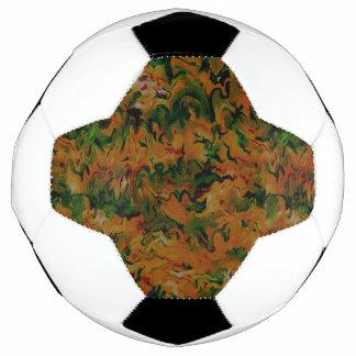 Funky Retro Art-abstraktes Mandarine-Grün Fußball