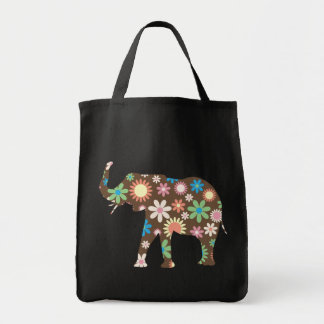 Funky retro bunte mit BlumenBlumen des Elefanten,  Taschen