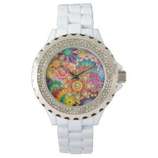 Funky Retro Muster-abstrakter Böhme Armbanduhr