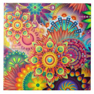 Funky Retro Muster-abstrakter Böhme Keramikfliese