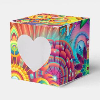 Funky Retro Muster abstraktes Boho Geschenkschachtel
