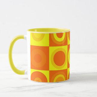Funky Retro orange Tasse