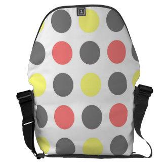 Funky Retro riesiges Punkt-Muster Kurier Taschen