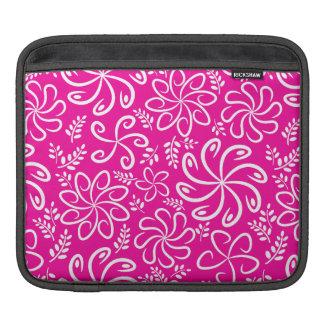 Funky rosa Blumen und Blätter iPad Hülse Sleeve Für iPads
