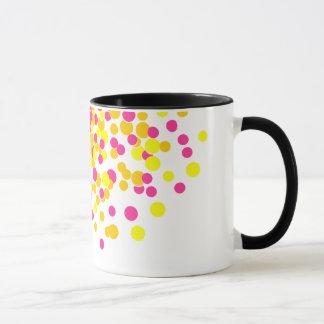 Funky rosa gelbes Feuerwerk - 11 Unze-Wecker-Tasse Tasse