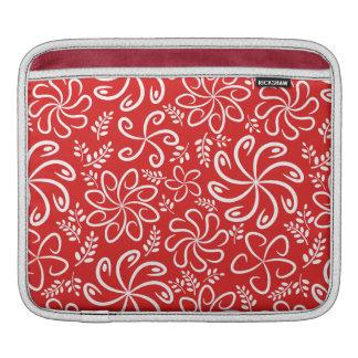 Funky rote Blumen und Blätter iPad Hülse Sleeve Für iPads