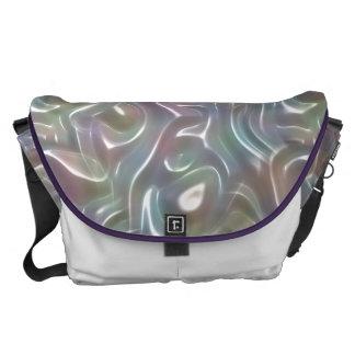 Funky schillernde abstrakte Pearypastellfarben Kurier Taschen